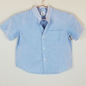 New STEM Casual Button Up Shirt Size 5